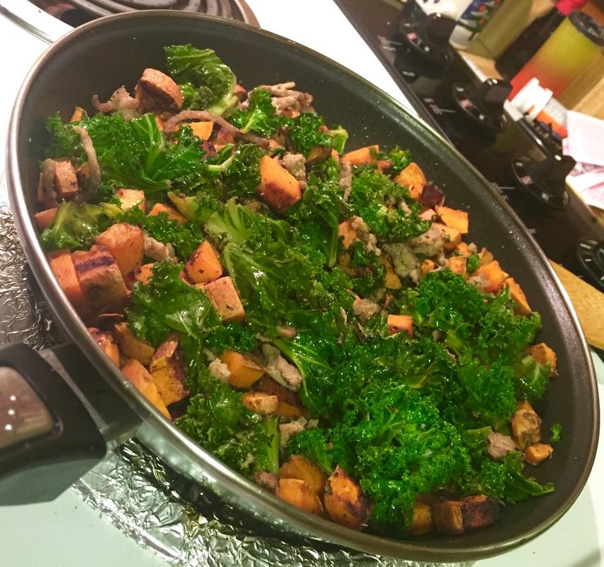 Sauteed Kale and Saltbush